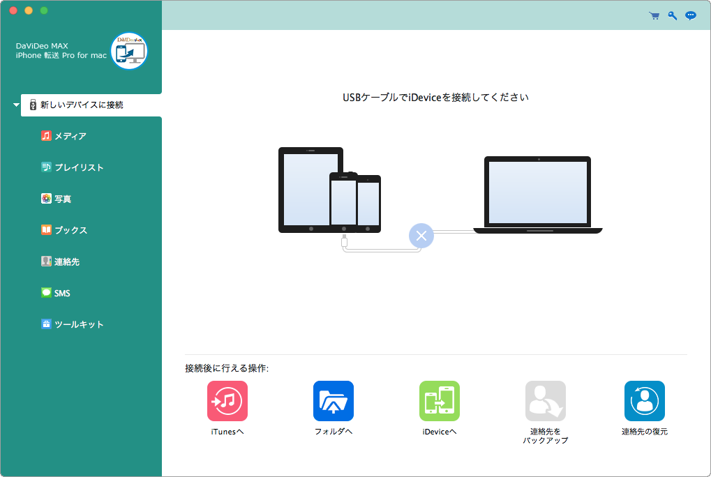 DaViDeo MAX iPhone 転送 Pro for Mac